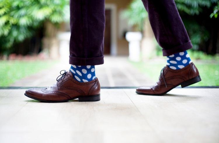 Wearing Stylish Socks