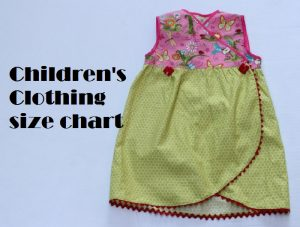 children's clothing size chart