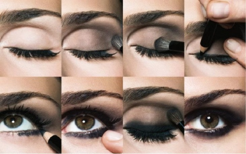 Make up your eyes with a smoky style