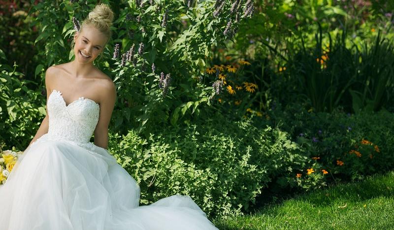 Curvy bride with dress