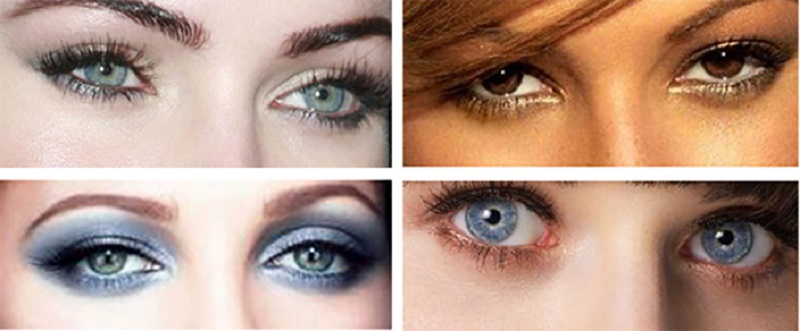 make up your eyes according to shape