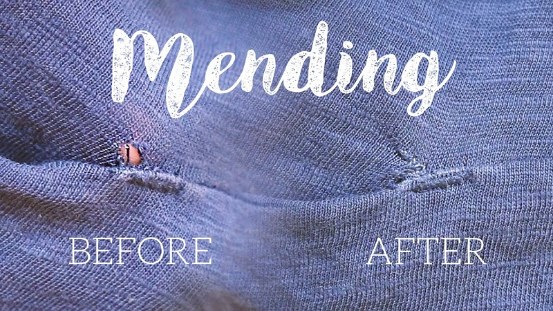 How to mend a hole in fabric