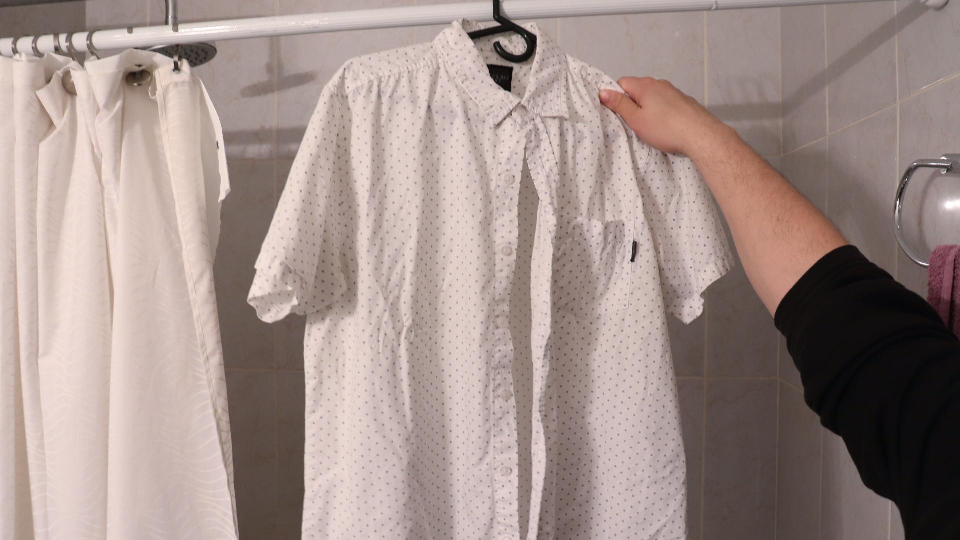 hang dress after iron