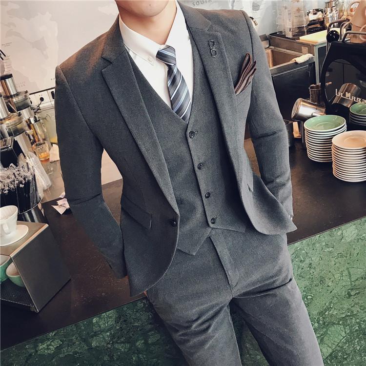Night gray suit