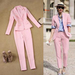 pink suit pants