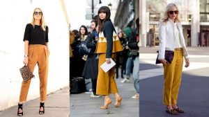 What to wear with mustard pants