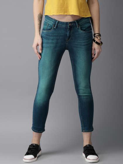 Bluish green jeans