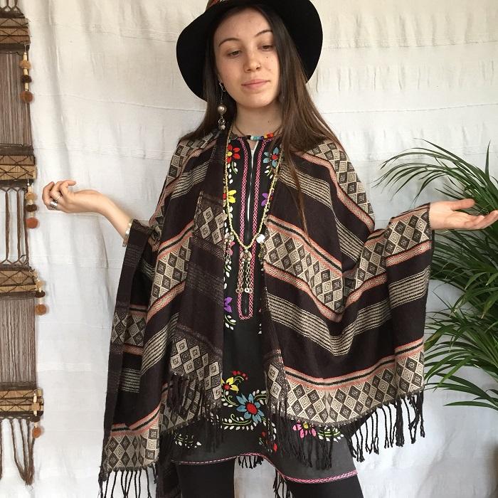 Wear an ethnic poncho