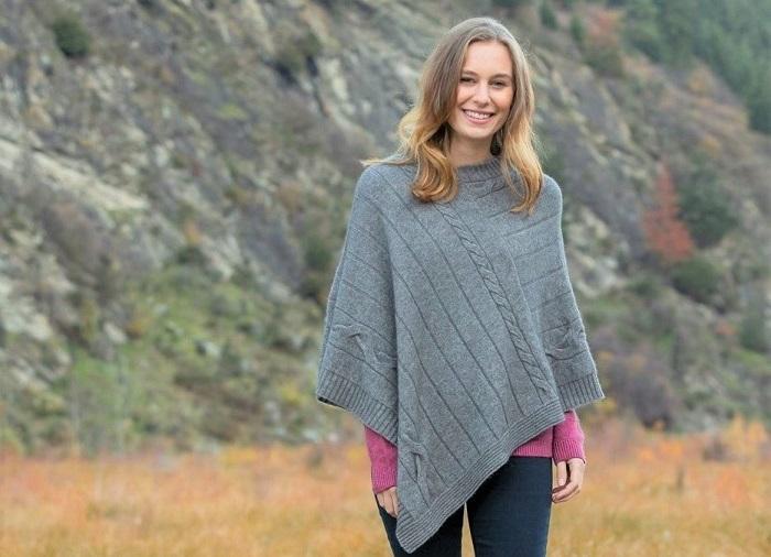 Wool ponchos for women